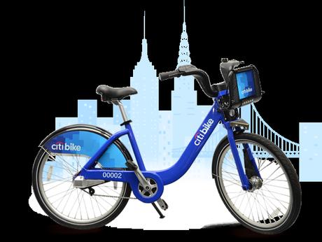The bikes take New York