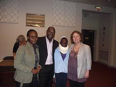 Jackson Kaguri (second from left) surrounded b...