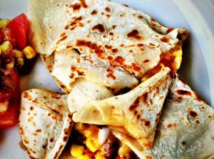 Pinto Bean & Corn Quesadillas