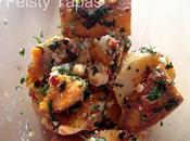 Mixed Potato Salad with Chilli, Coriander Feta Recipe Receta Ensalada Boniato Patata Guindilla Roja (Thermomix)