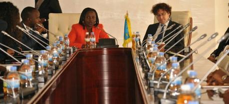 The signing of an energy deal between the Government of Rwanda and Giga Watt Global Rwanda Limited (Credit: Rwanda Ministry of Infrastructure)