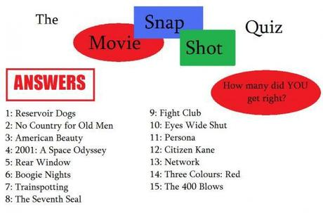 The Movie Snapshot Quiz