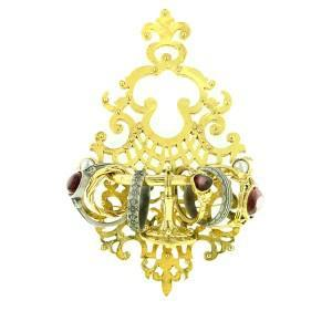 seneca throne of beauty ring brooch