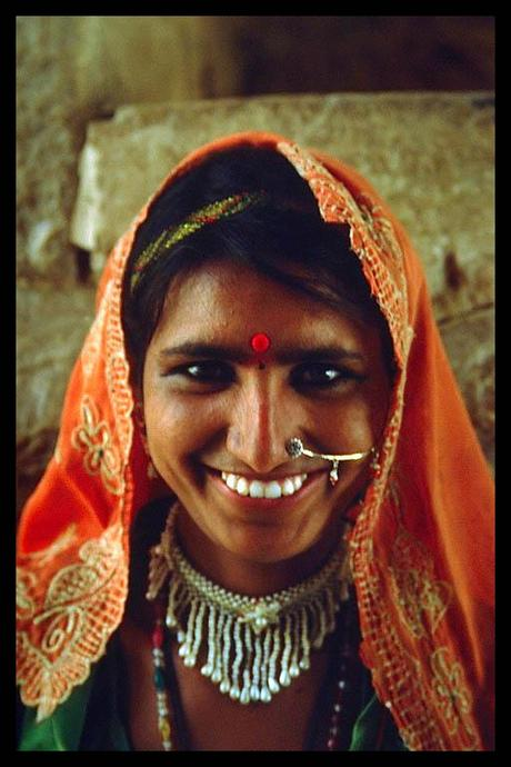 Smiling Jaisalmer, Indian woman