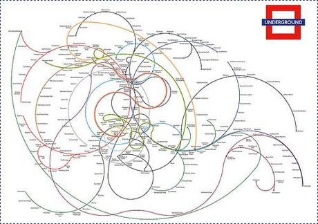 The Twisted London Underground Map by fdansv