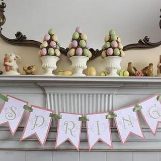 Easter Decorations and my love of Chocolate Eggs