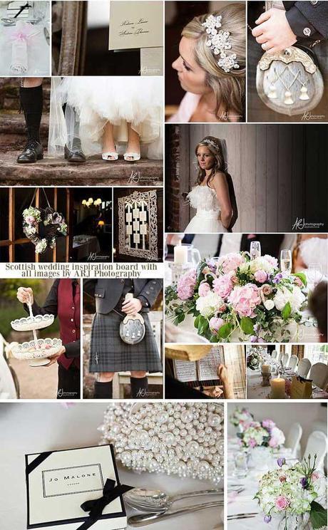 Scottish wedding blog inspiration board by ARJ Photography