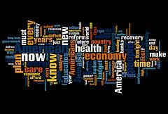Word Cloud of Obama's speech to Congress