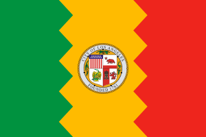 Flag of Los Angeles, California.