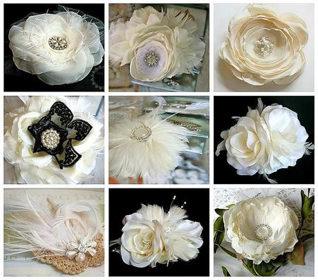 New Ivory Bridal Hair Flowers
