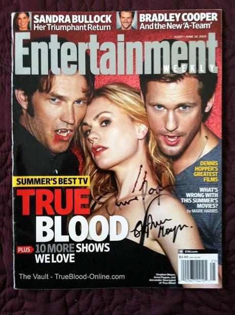 Charity Auction Quickies of Magazines signed by Anna Paquin, Stephen Moyer and Deborah Ann Woll
