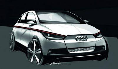 Audi A2 Concept exterior sketches by Audi Design team