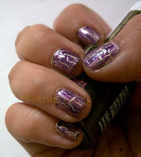 Swatches: Nail Polish: Crackle Nail Polish: 17 Purple Crackle Top Coat Swatches