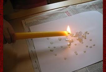Если при гадании сжигая бумагу
