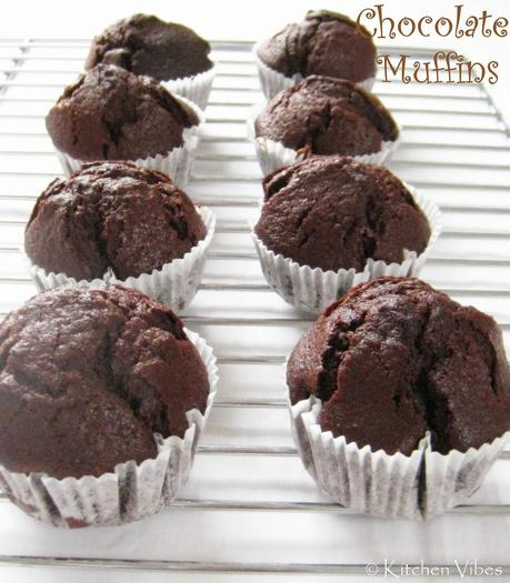 Chocolate Muffins - My blog turns one today!!!