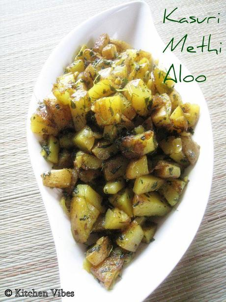 Kasuri Methi Aloo - Simple, Quick and Delish!