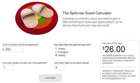 The Splitwise Guest Calculator