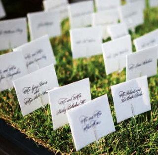 Please help with ideas of how to display tickets weddingbee Unique place card ideas