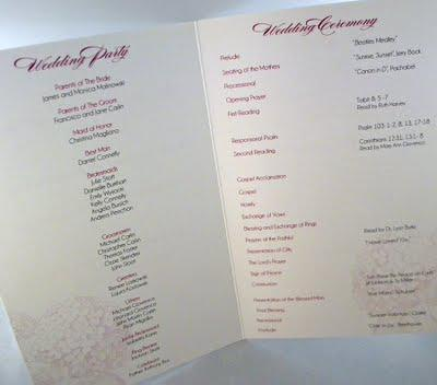 Top 10 Things to Include In Your Wedding Program