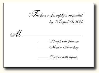 rsvp cards wording for weddings