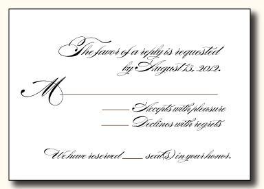 5 Types Of Wedding Rsvp Card Wording