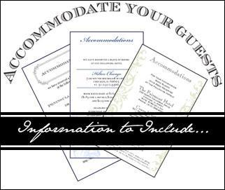 Accommodation Card Wording