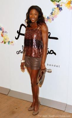 Rutina Wesley attends the Alice and Olivia Spring 2012