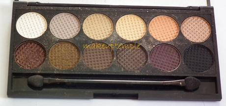 Product Reviews: Eye Shadow Palettes: Sleek: Sleek I Divine Nude Collection Au Naturel Eye Shadow Palette Swatches & Review