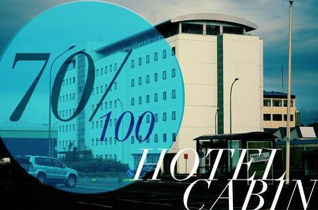 hotel cabin with text HOTEL CABIN REVIEW