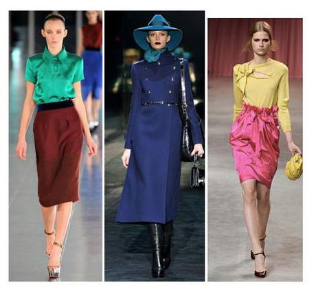 color combinations on the runway