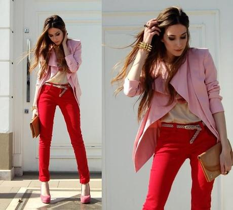 Risky fashion unlikely color combinations paperblog Red and pink colour combination