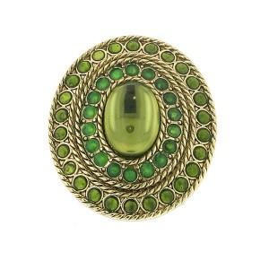 grecian green stretch cocktail ring