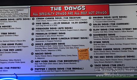 Greensburg, Indiana: Dawg House Menu