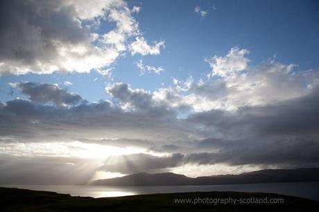 Photo - sun over Loch Linnhe and Morvern, in the Scottish Highlands