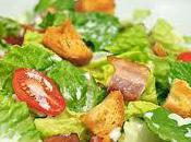 Salad Lettuce, Bacon Tomatoes with Garlic Cream