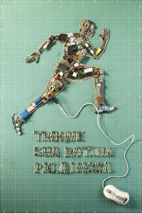 Brazilian Gym Posters Made From Old TVs, Video Games and Computers | Flavorwire