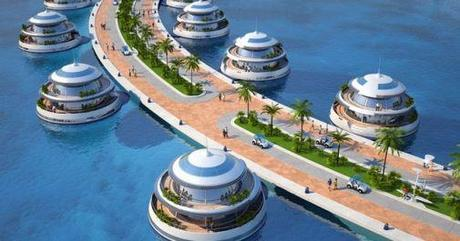 Amphibious semi-submerged luxury resort Doha, Qatar