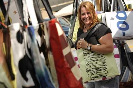 Billboards turned into totes | Green Bay Press Gazette | greenbaypressgazette.com