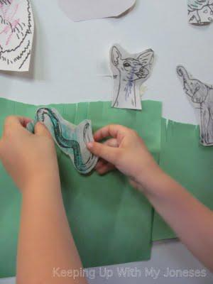 EXPLORE ART project: Animal Collage Wall Mural