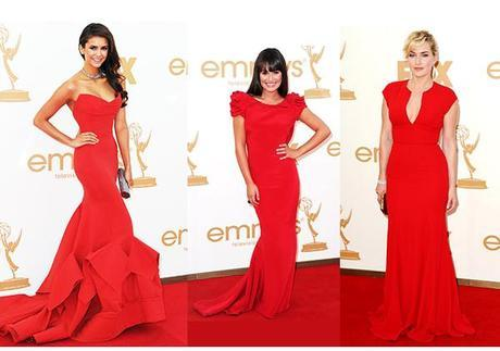 red fashion at the emmys