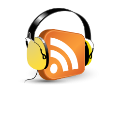 podcasting icon. learn italian through podcasts