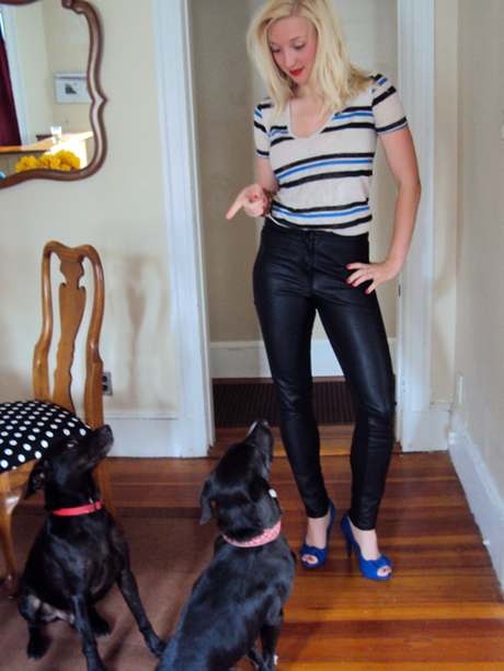 A lesson in {p}leather pants