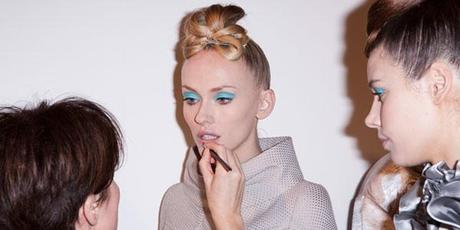 Fashion Week:LFW: Paul Costelloe:Paul Costelloe LFW SS12 Backstage Beauty