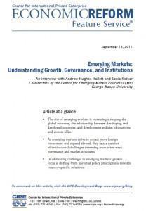 Understanding the emerging markets