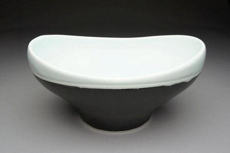 black and white ceramic fruit bowl etsy