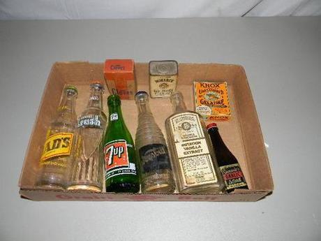 Old Pop Bottles glass on auction +