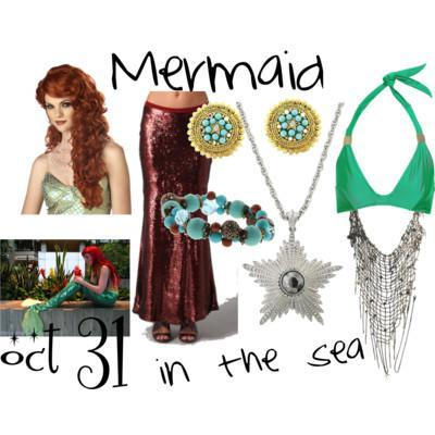Halloween Costume - Mermaid in the Sea