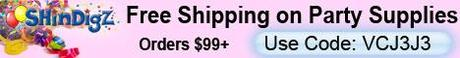 FREE Shipping on Shindigz Party Supply Orders $85+