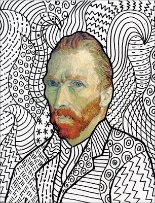 Van gogh free head template paperblog - Coloriage van gogh ...