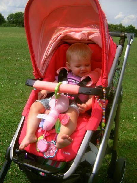 Little Miss A enjoying her Maxi Cosi Loola